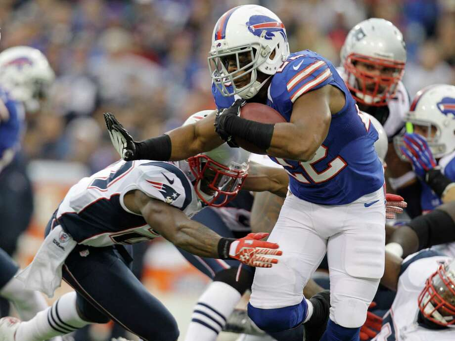 Buffalo Bills' Fred Jackson (22) runs against the New England Patriots during the first half of an NFL football game in Orchard Park, N.Y., Sunday, Sept. 30, 2012. (AP Photo/Gary Wiepert) Photo: Gary Wiepert