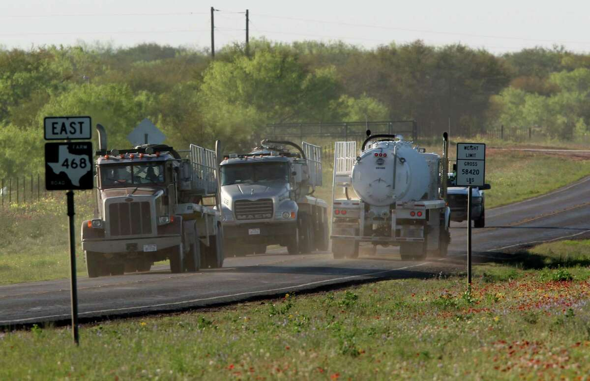 METRO -- Truck traffic on East 468 Traffic on roads throughout the Eagle Ford Shale in South Texas, Wednesday, March 21, 2012. Jerry Lara/San Antonio Express-News