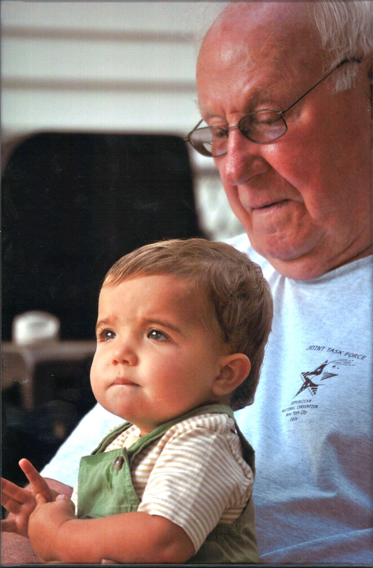?Happy Birthday Great Grandpa? Oct.4, 2012! 2 yr. old Joseph Michael Beaton of Rindge, New Hampshire is wishing his Great Grandpa, Michael J. Batza, Jr. of Colonie NY a very Happy Birthday along with his brother Gary Alan Beaton (not shown). Photo by Grandson Ryan Batza of Manchester, New Hampshire.
