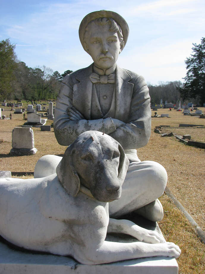 This man and dog are at a graveyard in Crystal Springs, Miss. (NatalieMaynor/Flickr Creative Commons)
