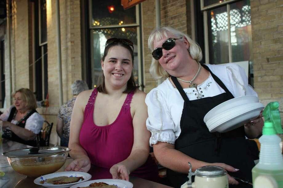 People enjoying Oktoberfest festivities (Beethoven Maennerchor) San Antonio 2012: Yvonne Zamora, mySA.com/ SA Photo: Yvonne Zamora, MySA.com/ SA