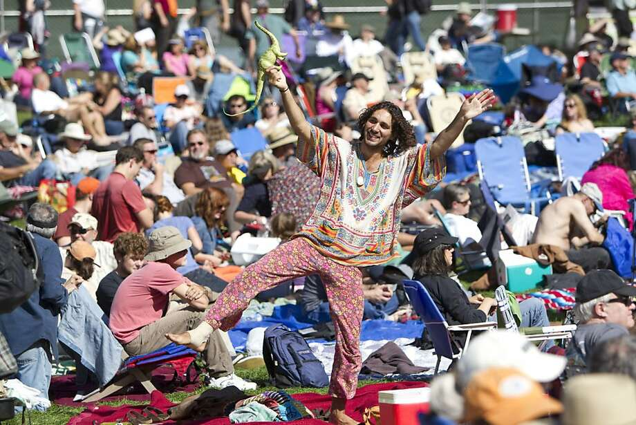 Michael Greco dances to music being performed by the World Famous Headliners on the Banjo Stage at Hardly Strictly Bluegrass in Golden Gate Park on Saturday, October 6, 2012. Photo: Laura Morton, Special To The Chronicle