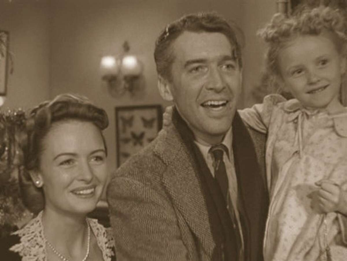 IT'S A WONDERFUL LIFE, with James Stewart and Donna Reed.