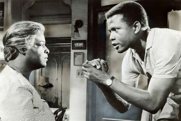 "1961 - Claudia McNeil and Sidney Poitier in the movie ""A Raisin in the Sun.""  Should not be overlooked. (Columbia Pictures / SF Chronicle File 1961)"