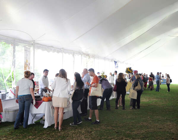 The second annual Greenwich Food and Wine Festival at Roger Sherman Baldwin Park in Greenwich, Saturday, Oct. 6, 2012. The event benefits the Hole in the Wall Gang Camp, a nonprofit that runs camps for children coping with cancer, sickle cell anemia and other serious illnesses. Photo: Bob Luckey / Greenwich Time