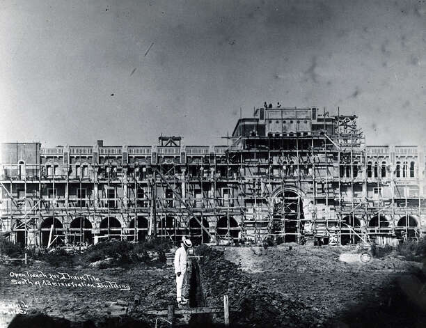 Undated construction of the Rice University Administration Building. Photo: Houston Chronicle File Photo