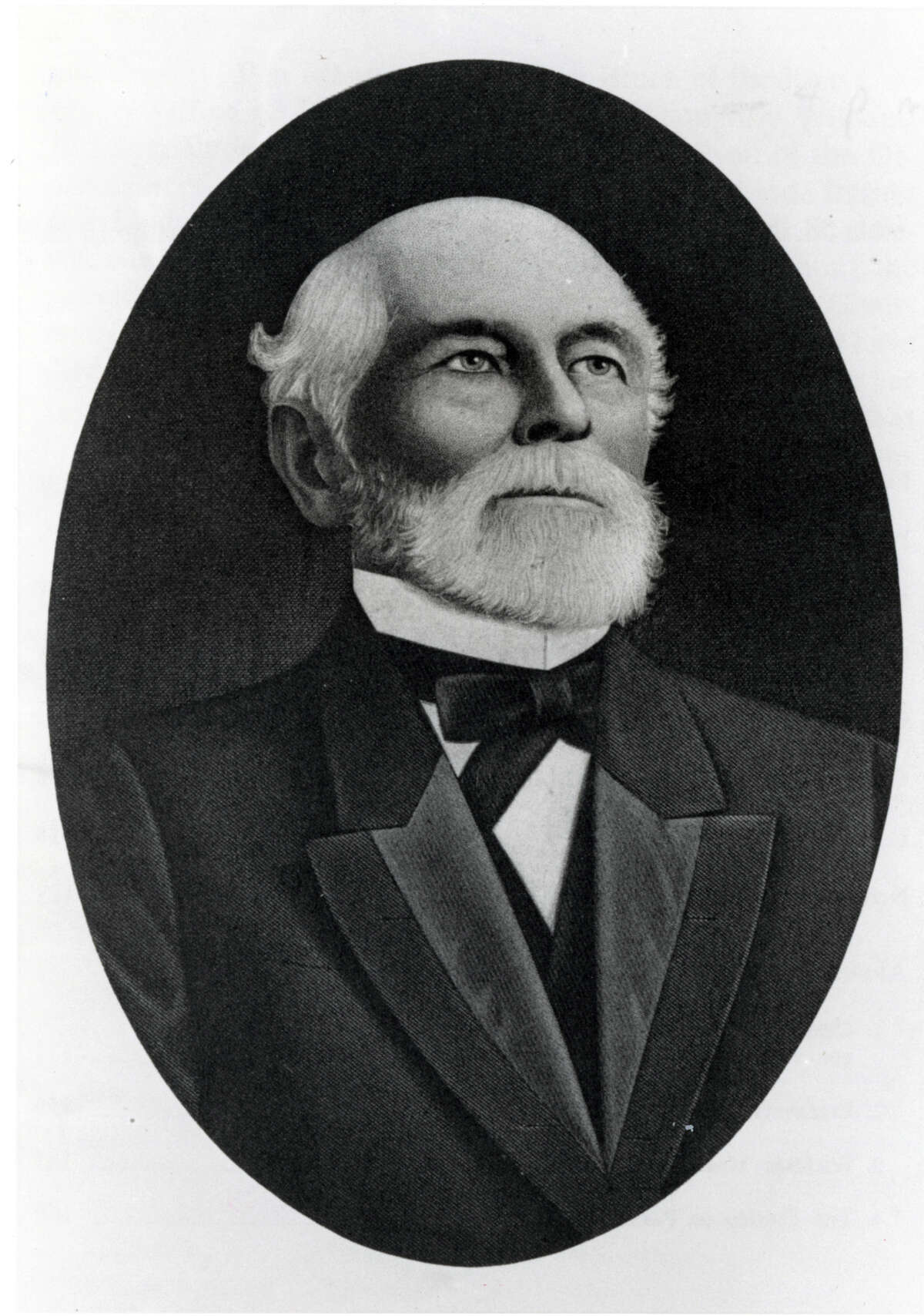 Copy portrait of William March Rice from book