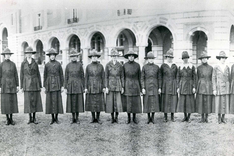 Rice Women's Army Corps in 1918. Photo: Houston Chronicle File Photo