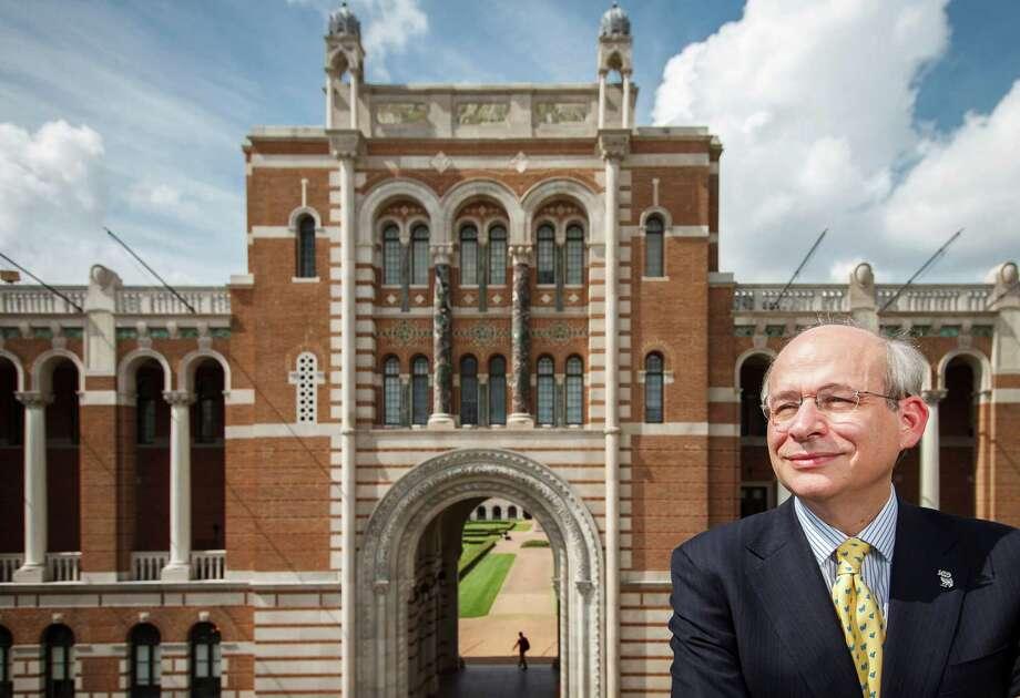 Current Rice University President, David Leebron, at Lovett Hall, Friday, Sept. 28, 2012, in Houston. Photo: Michael Paulsen, Houston Chronicle / © 2012 Houston Chronicle