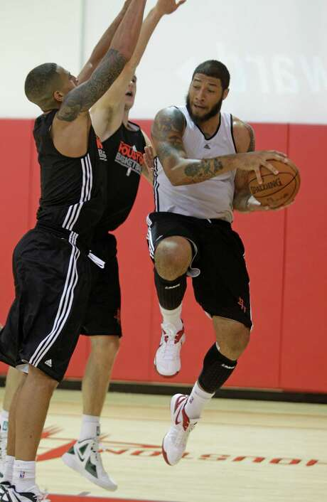 After missing camp in McAllen, rookie Royce White says he'll practice with the Rockets on Monday. Photo: Melissa Phillip / © 2012 Houston Chronicle