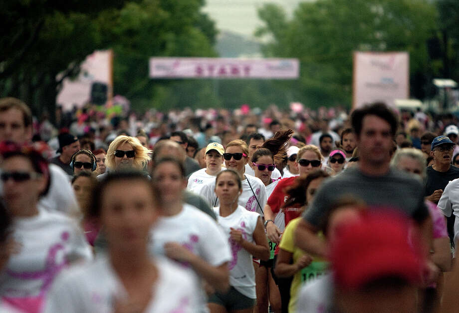 The Komen Race for the Cure was Oct. 6. Thousands ran, but the charity, hurt by a Planned Parenthood controversy, didn't make its $3 million goal. Photo: Cody Duty, Staff / © 2012 Houston Chronicle