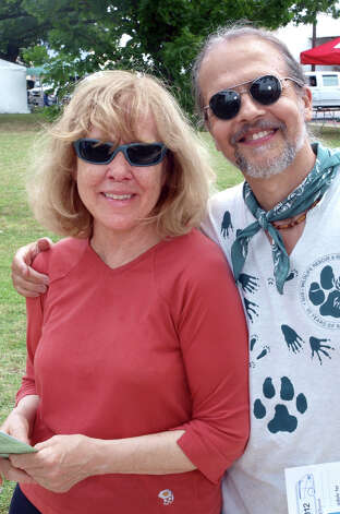 Susan Rivers and Tim Duda enjoy Solar Fest at Maverick Park on May 2, 2009. Photo: San Antonio Express-News File Photo / Robert McLeroy