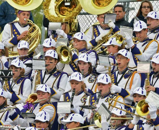 Amsterdam High School marching band performs during Saturday's game against Burnt Hills  Oct. 6, 201