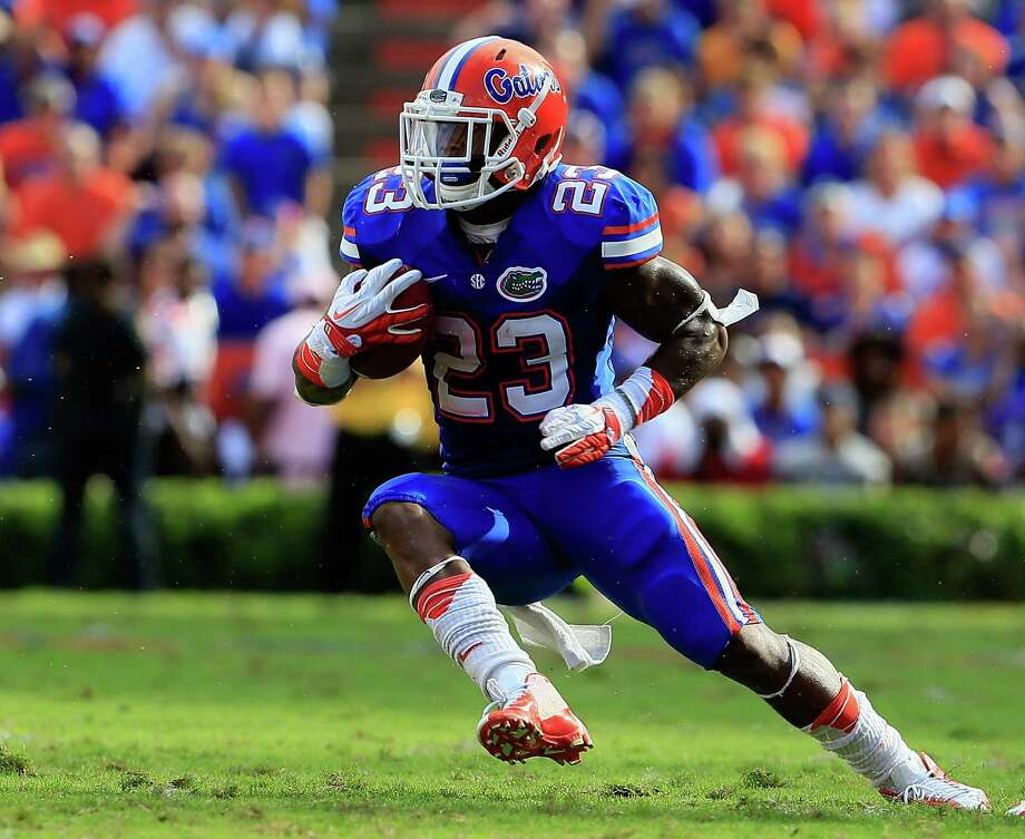 GAINESVILLE, FL - OCTOBER 06:  Mike Gillislee #23 of the Florida Gators runs for yardage during the game against the LSU Tigers at Ben Hill Griffin Stadium on October 6, 2012 in Gainesville, Florida.  (Photo by Sam Greenwood/Getty Images) Photo: Sam Greenwood