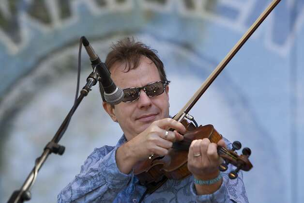 Stuart Duncun plays the fiddle with the Alison Brown Quartet on the Banjo Stage at Hardly Strictly Bluegrass in Golden Gate Park in San Francisco, Calf., on Saturday, October 6, 2012. Photo: Laura Morton, Special To The Chronicle