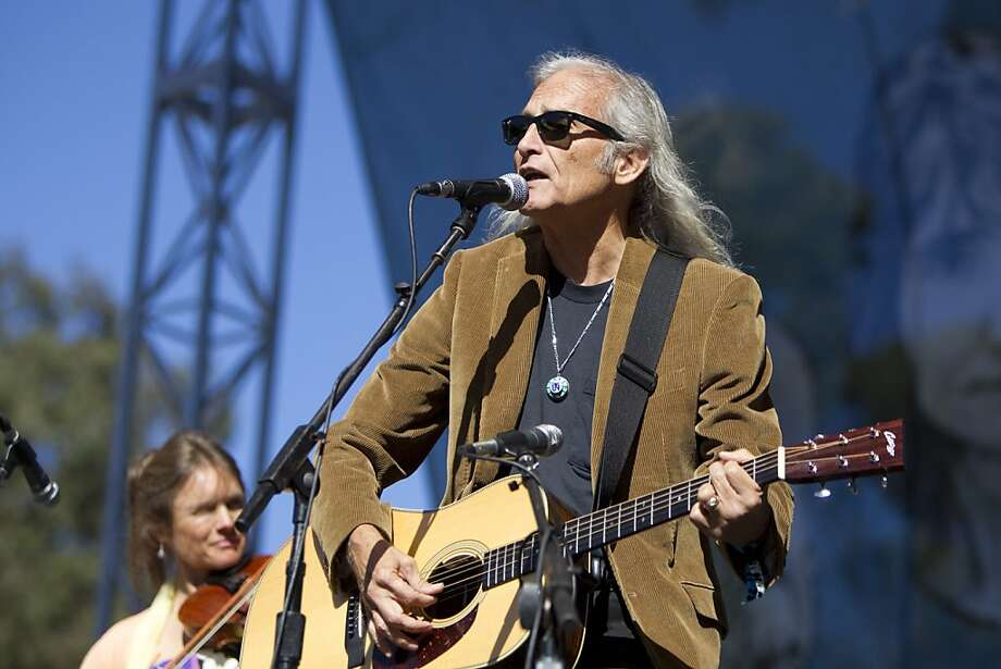 Heidi Clare (left) and Jimmie Dale Gilmore perform during a tribute to Warren Hellman, Earl Scruggs and Doc Watson on the Banjo Stage at Hardly Strictly Bluegrass in Golden Gate Park in San Francisco, Calf., on Saturday, October 6, 2012. Photo: Laura Morton, Special To The Chronicle