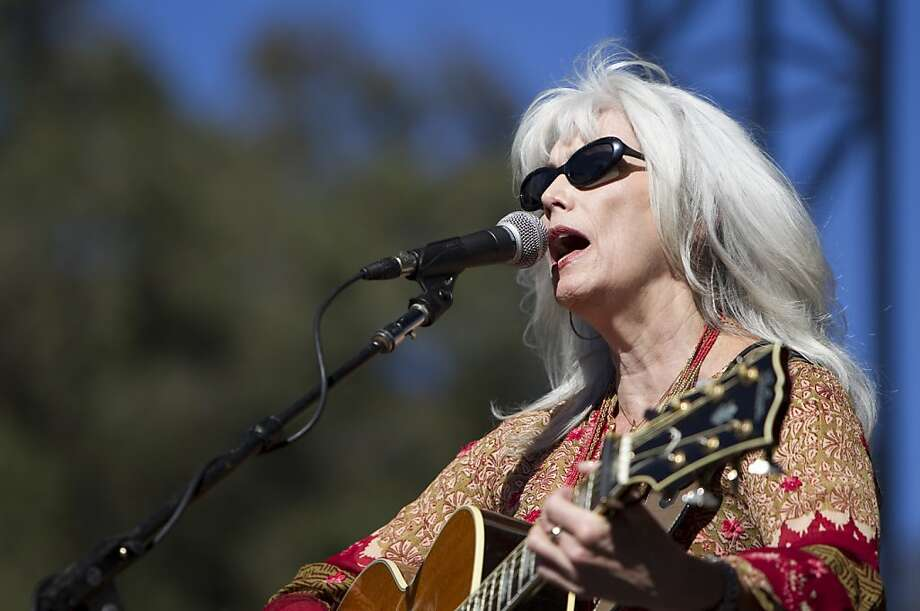Emmylou Harris sings on the Banjo Stage during a tribute to Warren Hellman, Earl Scruggs and Doc Watson at Hardly Strictly Bluegrass in Golden Gate Park in San Francisco, Calf., on Saturday, October 6, 2012. Photo: Laura Morton, Special To The Chronicle