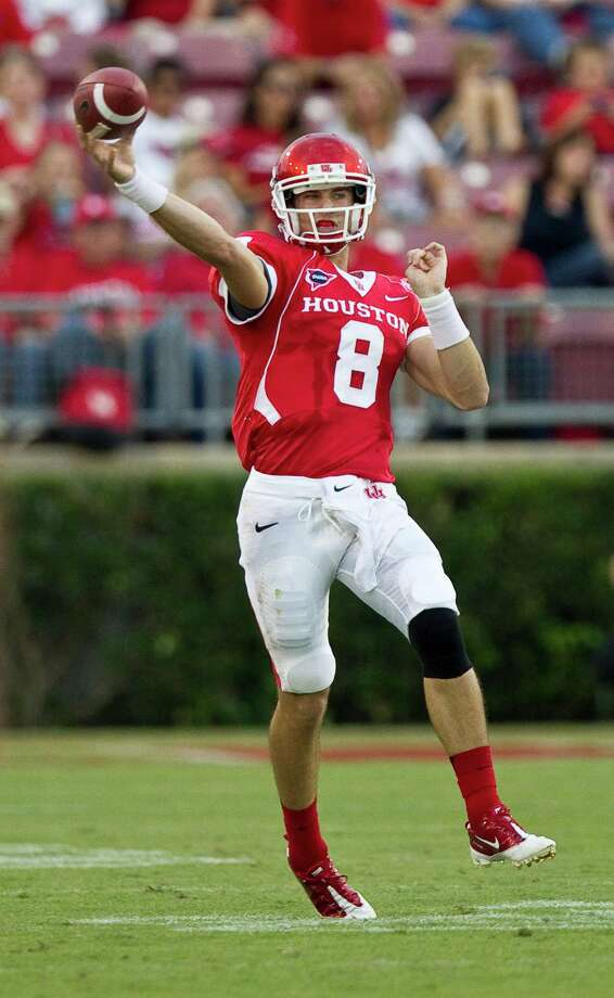 The redshirt sophomore returned to practice after suffering a head injury in Houston's last game. Photo: Nick De La Torre, Houston Chronicle / © 2012  Houston Chronicle