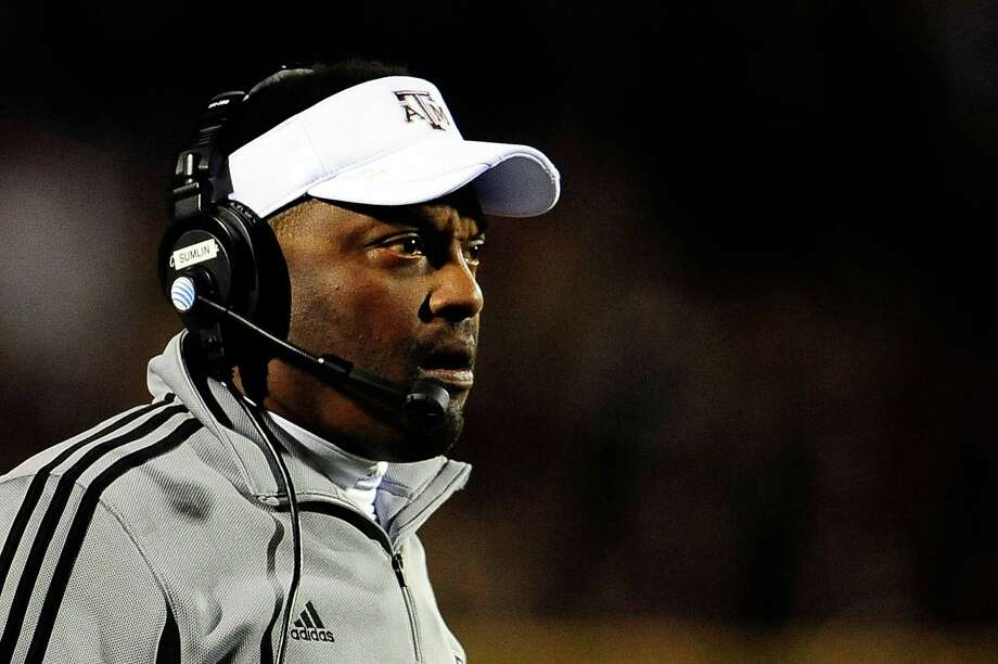 OXFORD, MS - OCTOBER 06: Head coach Kevin Sumlin of the Texas A&M Aggies watches game action against the Ole Miss Rebels at Vaught-Hemingway Stadium on October 6, 2012 in Oxford, Mississippi. Photo: Stacy Revere, Getty Images / 2012 Getty Images
