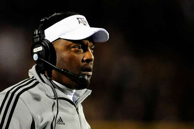 OXFORD, MS - OCTOBER 06:  Head coach Kevin Sumlin of the Texas A&M Aggies watches game action against the Ole Miss Rebels at Vaught-Hemingway Stadium on October 6, 2012 in Oxford, Mississippi.  (Photo by Stacy Revere/Getty Images) (Getty Images)