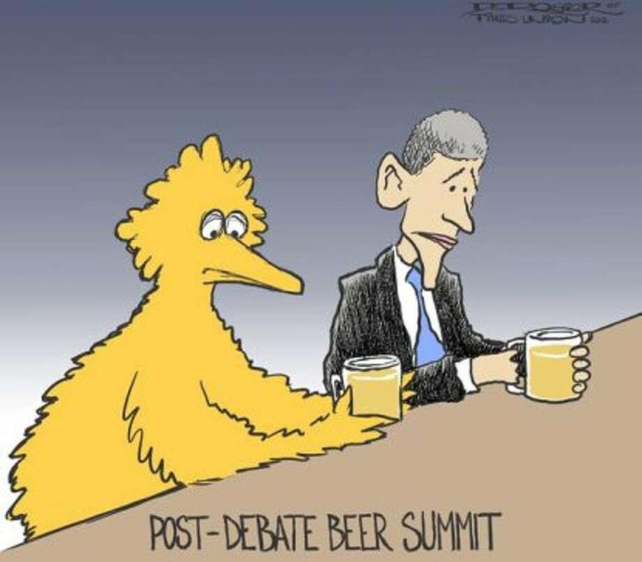 Beer summit (John de Rosier / Albany Times Union)