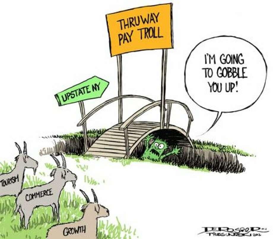 Pay troll (John de Rosier / Albany Times Union)