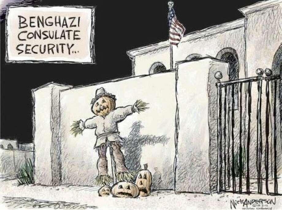 Benghazi Consulate (Nick Anderson / Houston Chronicle)