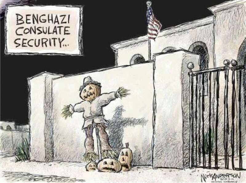 Benghazi Consulate (Nick Anderson / Houston Chronicle)