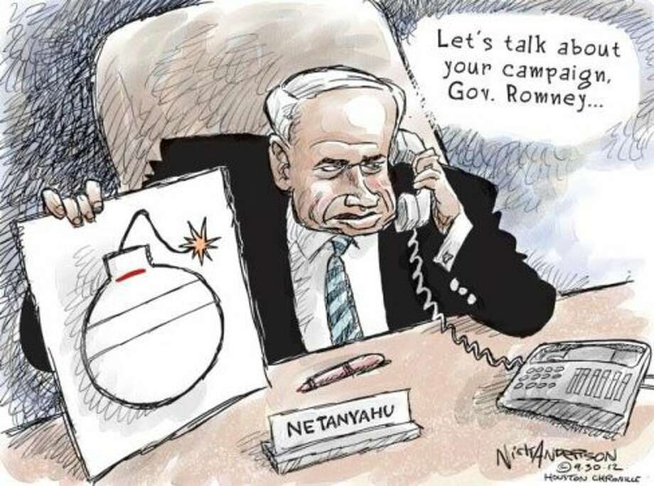 Bibi's bomb (Nick Anderson / Houston Chronicle)
