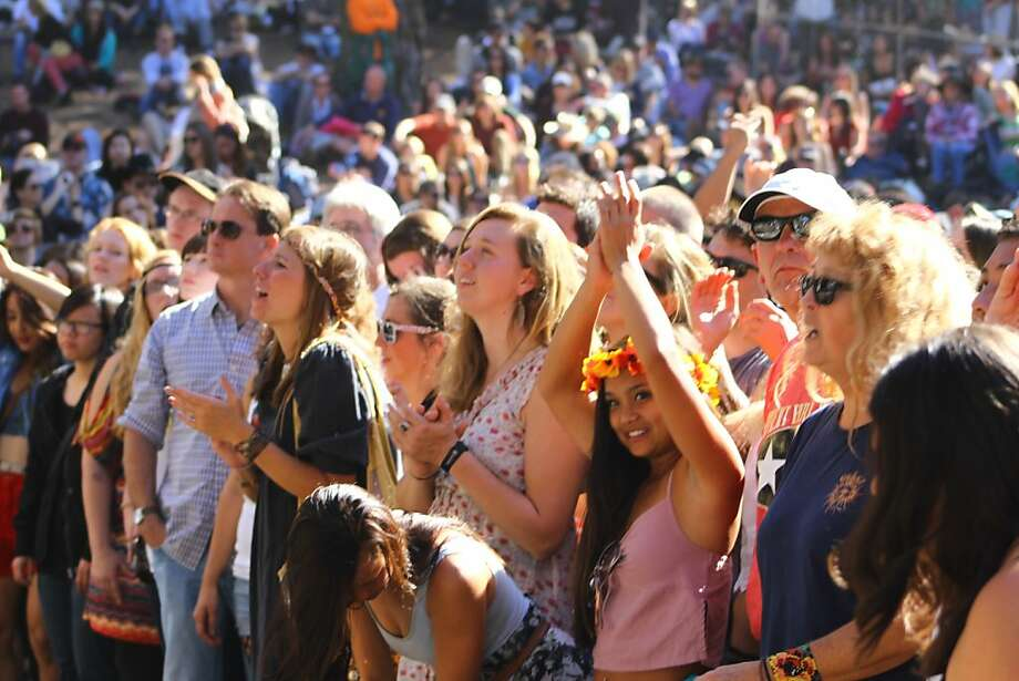 Fans cheer the Lumineers at the second day of Hardly Strictly Bluegrass in Golden Gate Park in San Francisco, CA on October 6, 2012. Photo: Clint Wirtanen, The Chronicle