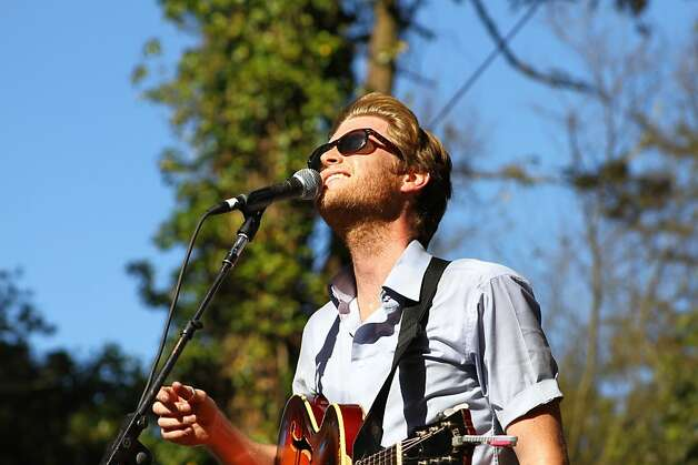 Wesley Shultz of the Lumineers performs at the second day of Hardly Strictly Bluegrass in Golden Gate Park in San Francisco, CA on October 6, 2012. Photo: Clint Wirtanen, The Chronicle