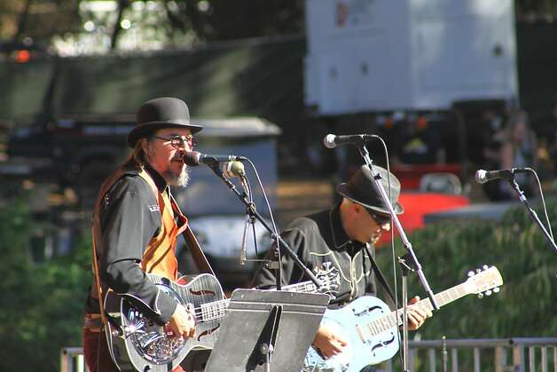 Les Claypool performs at the second day of Hardly Strictly Bluegrass in Golden Gate Park in San Francisco, CA on October 6, 2012. Photo: Clint Wirtanen, The Chronicle