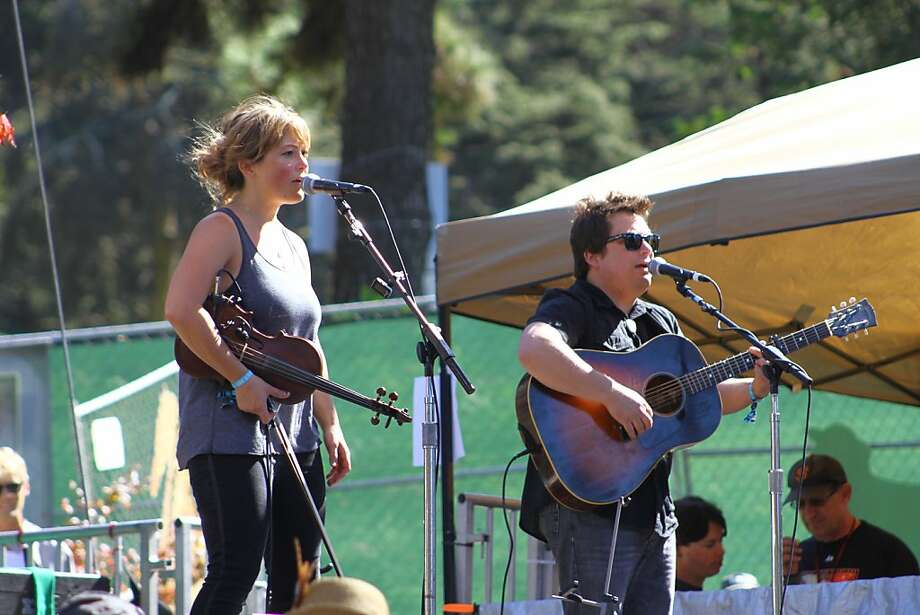 Sara Watkins and brother Sean Watkins perform at the second day of Hardly Strictly Bluegrass in Golden Gate Park in San Francisco, CA on October 6, 2012. Photo: Clint Wirtanen, The Chronicle