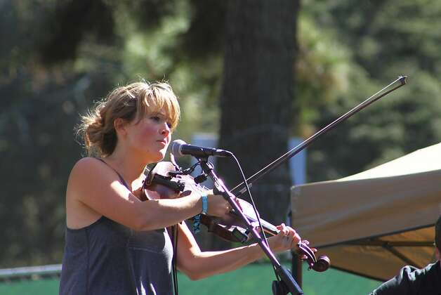 Sara Watkins performs at the second day of Hardly Strictly Bluegrass in Golden Gate Park in San Francisco, CA on October 6, 2012. Photo: Clint Wirtanen, The Chronicle