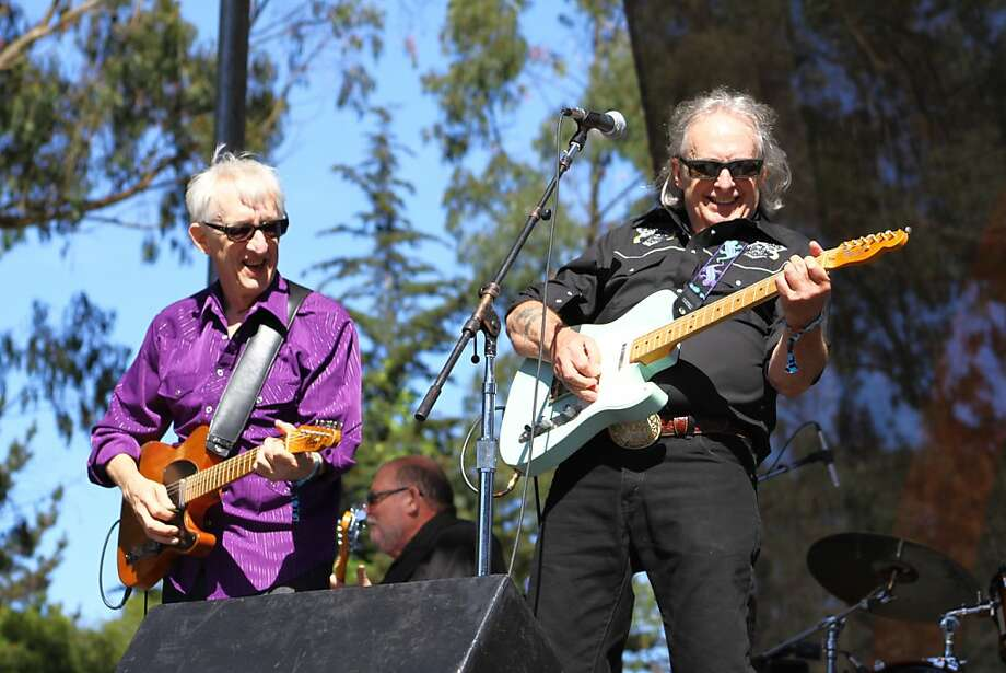 Bill Kirchen (left) performs at the second day of Hardly Strictly Bluegrass in Golden Gate Park in San Francisco, CA on October 6, 2012. Photo: Clint Wirtanen, The Chronicle