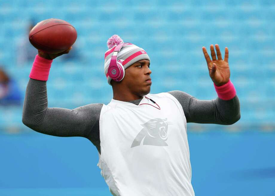 Carolina Panthers' Cam Newton warms up before an NFL football game against the Seattle Seahawks in Charlotte, N.C., Sunday, Oct. 7, 2012. Photo: AP