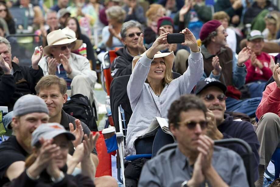 Fans pack the area in front of the Banjo Stage to watch the Dry Branch Fire Squad kick off the last day of the music festival Hardly Strictly Bluegrass in Golden Gate Park in San Francisco, Calf., on Sunday, October 7, 2012. Photo: Laura Morton, Special To The Chronicle