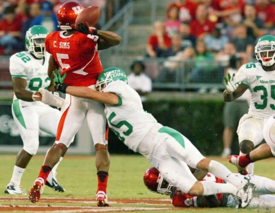 "9. North Texas (2-4, next week idle) — Mean Green's defense struggles with fundamentals in loss to Houston. And McCarney says they were ""playing in sand"" compared to the speedy Cougars. (David Minton/Denton Record Chronicle / Associated Press)"