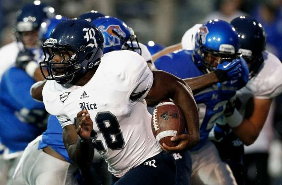 12. Rice (1-5, next  week vs. UTSA) — Lethargic Owls come out flat, uninspired after storm delay in loss at hapless Memphis. (Mark Weber/The Commercial Appeal / Associated Press)