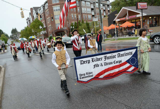 The Deep River Junior Ancients Fife & Drum Corps march in the Columbus Day Parade on Sunday, Oct. 7 which kicked off at Sacred Heart Church on Schuyler Avenue in Stamford. Photo: Amy Mortensen / Connecticut Post Freelance