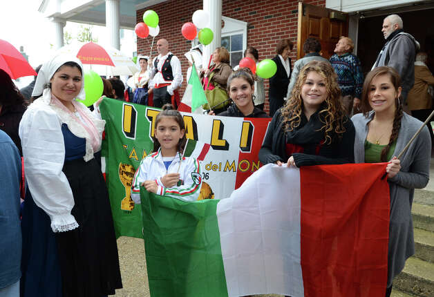 The Columbus Day Parade on Sunday, Oct. 7 which kicked off at Sacred Heart Church on Schuyler Avenue in Stamford. Photo: Amy Mortensen / Connecticut Post Freelance
