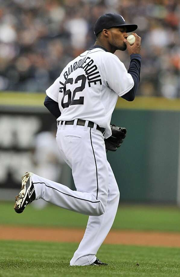Tigers reliever Al Alburquerque apparently wasn't accursed for showing up the A's in 2012. Photo: Robin Buckson, Associated Press