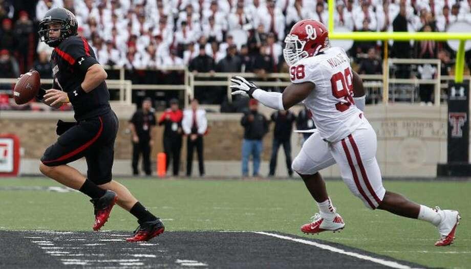 Seth Doege, Texas Tech, 22-36-3, 203 yards, 0 TDs (Stephen Spillman / Associated Press)