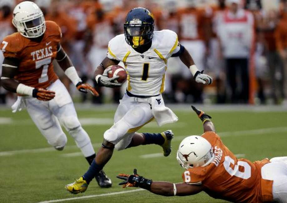 Tavon Austin, West Virginia, 10 catches, 102 yards, 1 TD (Eric Gay / Associated Press)