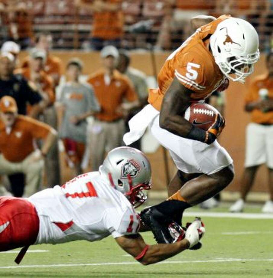 Jeremy Hills, Texas, 6 catches, 67 yards, 0 TDs (file photo) (San Antonio Express-News)