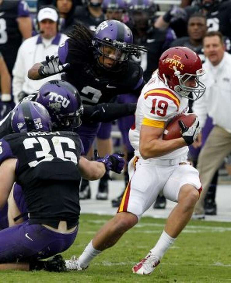 Josh Lenz, Iowa State, 5 catches, 147 yards, 3 TD (LM Otero / Associated Press)