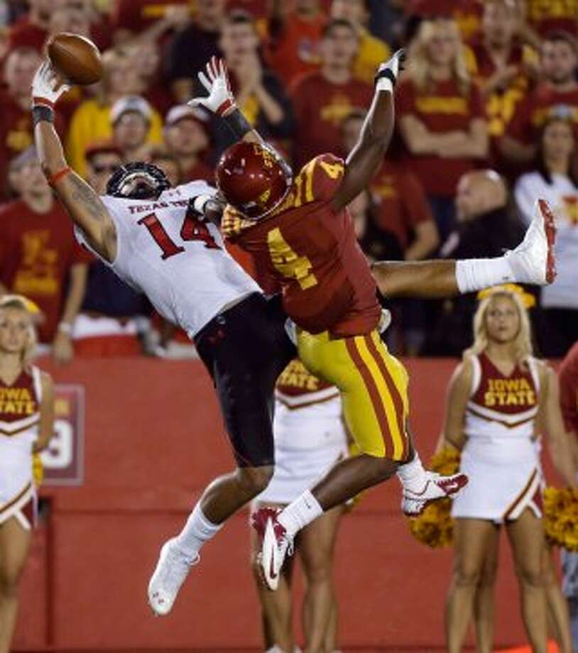 Darrin Moore, Texas Tech, 5 catches, 80 yards, 0 TDs (Charlie Neibergall / Associated Press)
