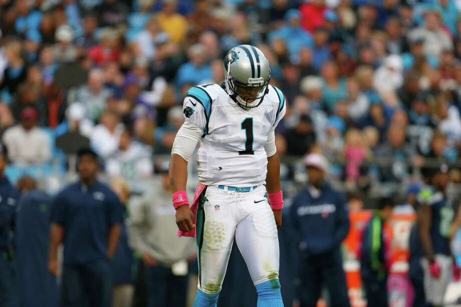 Carolina Panthers' Cam Newton (1) reacts after an incomplete pass during the second quarter of an NFL football game against the Seattle Seahawks in Charlotte, N.C., Sunday, Oct. 7, 2012. Photo: AP