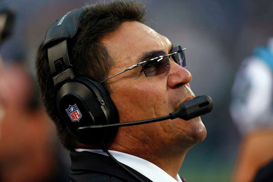 Carolina Panthers head coach Ron Rivera looks on during the second quarter of an NFL football game against the Seattle Seahawks in Charlotte, N.C., Sunday, Oct. 7, 2012. Photo: AP