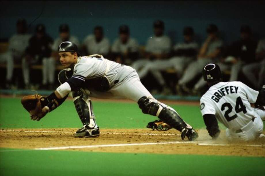 This image was taken during The Double – Edgar Martinez's hit that put the Mariners over the Yankees in Game 5 of the 1995 AL Division Series – and was not published until being pulled from the seattlepi.com archive in Oct. 2012. The negatives are preserved at the Museum of History and Industry, which is a longtime partner of the P-I. This previously unpublished image, which has not been cropped from the full frame, was taken Oct. 8, 1995. (Robin Layton/seattlepi.com/MOHAI)